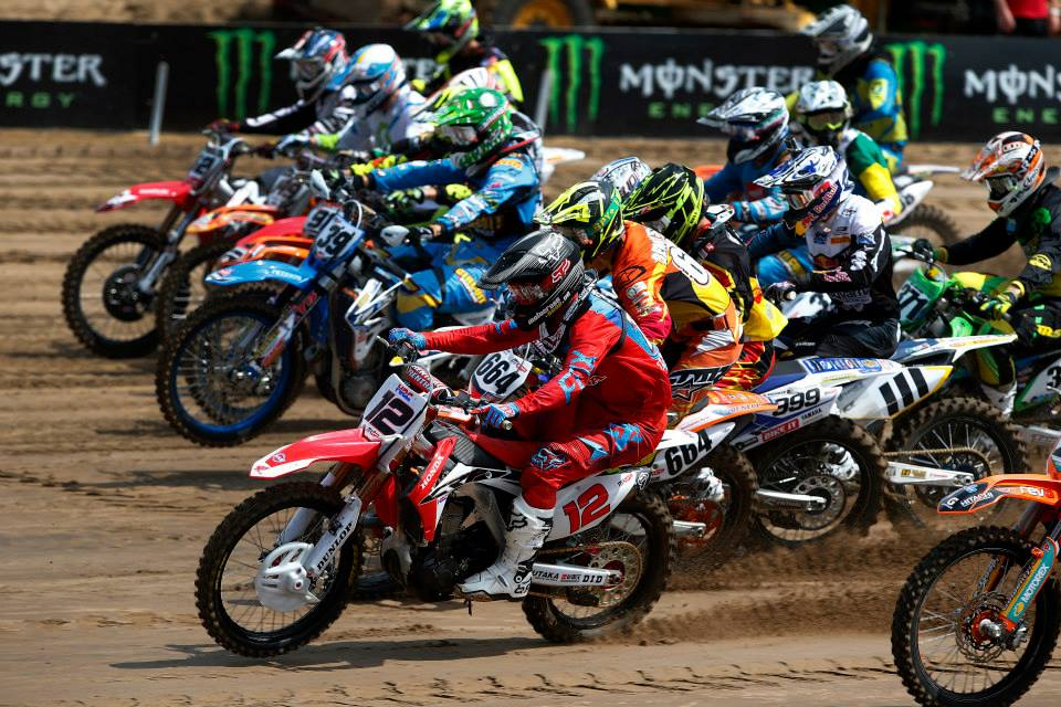 Nice shots from the start in the MXGP of Lommel